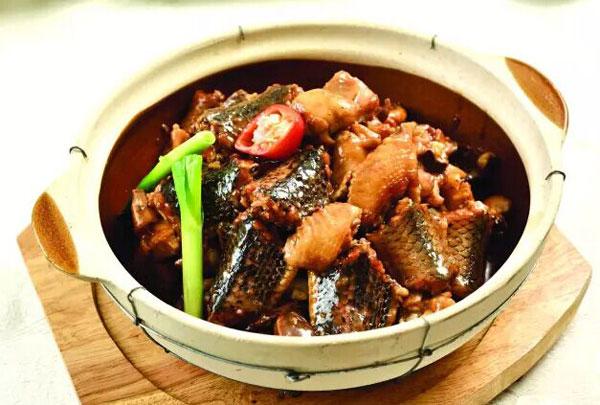 佛手果炖水律蛇